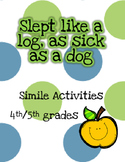 4th/5th Grade Simile Activities