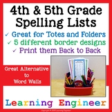 4th Grade Spelling Lists With 5th Grade Spelling Lists (Di