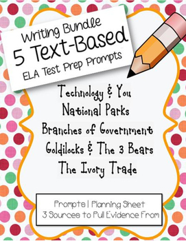 4th/5th Grade Writing: ELA Test-Prep Bundle #1 (5 FSA Prompts and Sources)