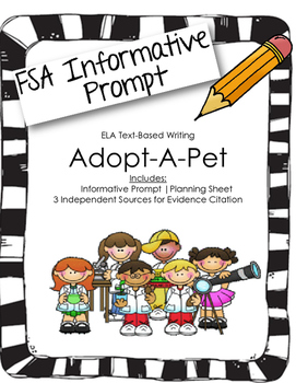 4th/5th Grade Text-Based Writing: Adopt-A-Pet (Informative) FSA