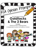4th/5th Grade Text-Based Writing: Goldilocks, Friend or Fo