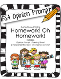 4th/5th Grade Text-Based Writing: Homework! Oh Homework! (Opinion) FSA