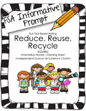 4th/5th Grade Text-Based Writing: Reduce, Reuse, Recycle (Informative) FSA