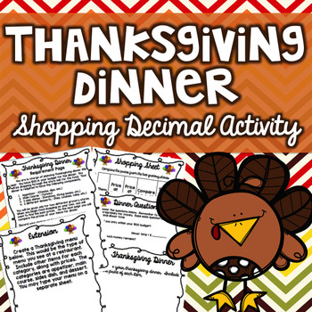 Thanksgiving Math Shopping Activity