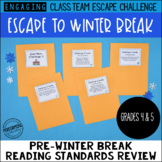 4th & 5th Grade Winter Escape Room | Winter Break Reading Review