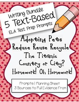 4th/5th Grade Writing: ELA Test-Prep Bundle #2 (5 FSA Prom
