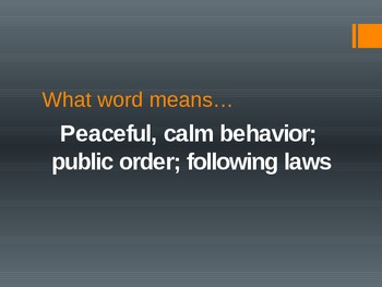 4th 5th Vocabulary Review - cit, civ, poli, polis