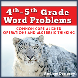 4th-5th Word Problems – Common Core Aligned – Operations a