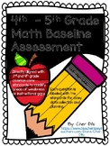 4th- 5th grade Math Baseline Assessment