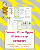 4th & 5th grade geometry unit set (posters, activities, study guide)