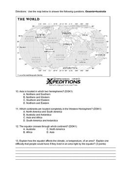 4th-6th Grade Social Studies Map Skills Assessment