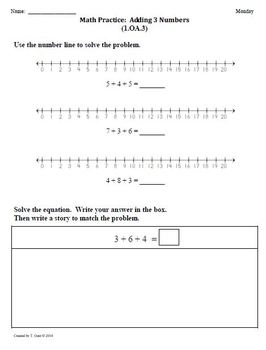 (4th 9 Weeks) 1st Grade Common Core Math Worksheets [BUNDLED]