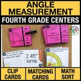 4th - Angle Measurement Math Centers - Math Games