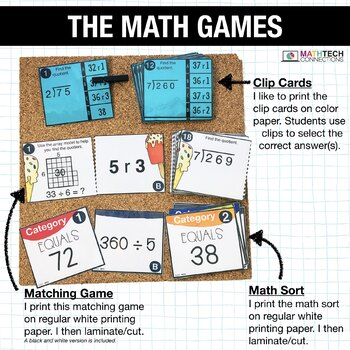 4th - Division Centers - Math Games