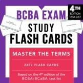 4th Edition | BCBA / BCaBA Exam Study Flash Cards | 220+ A