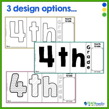 End of Year Memory Flip Book Activity - 4th Grade