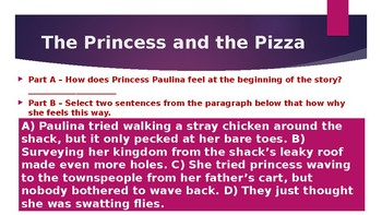4th FSA Practice Mcgraw-Hill Wonders Unit 1, Week 1 The Princess and the Pizza