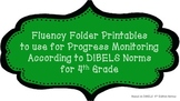 4th Fluency Folder for Progress Monitoring According to DIBELS Norms