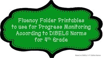 4th Fluency Folder for Progress Monitoring According to DI
