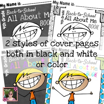 4th (Fourth) Grade  Back to School (All About Me) Book {No Prep}