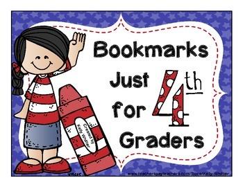 4th (Fourth) Grade Bookmarks