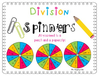 4th (Fourth) Grade Division Spinners *Easy Center!!* 4.NBT.B.6