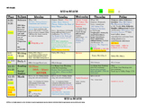 4th Fourth Grade Lesson Plan Template: 1 Week, 1 Glance +C