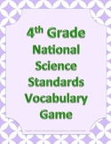 4th Fourth Grade NGSS Next Generation Science Standards Vocabulary Game