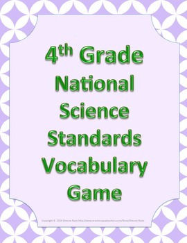 4th Fourth Grade NGSS Next Generation Science Standards Vo