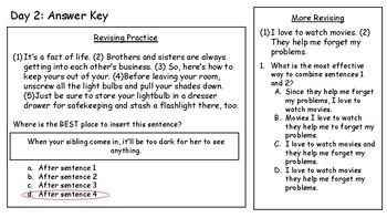 4th Fourth Grade STAAR Warm-Ups Writing Revising Editing Week 10