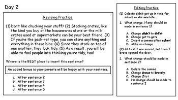 4th Fourth Grade STAAR Warm-Ups Writing STAAR Aligned to 2016 STAAR Week 11