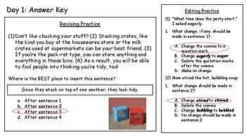4th Fourth Grade STAAR Warm-Ups Writing Revising Editing Week 11