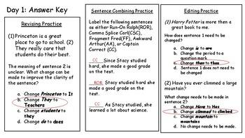 4th Fourth Grade STAAR Warm-Ups Revising Editing Writing Week 6
