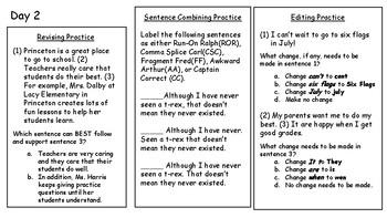 4th Fourth Grade STAAR Warm-Ups Writing Revising Editing Week 7