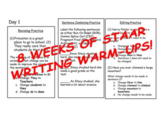 4th Fourth Grade STAAR Writing Revise and Edit Warm-Ups EIGHT WEEKS