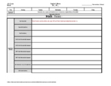 Grade 4 Weekly Lesson Plan Template w Florida + BEST Stand