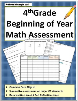 4th G Beginning of the Year Math Assessment