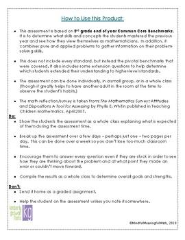 4th Grade Beginning of the Year Math Assessment