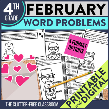 4th GRADE FEBRUARY WORD PROBLEMS