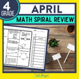 Fourth Grade Math Homework or 4th Grade Morning Work for APRIL