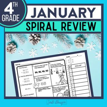 Fourth Grade Math Homework or 4th Grade Morning Work for JANUARY
