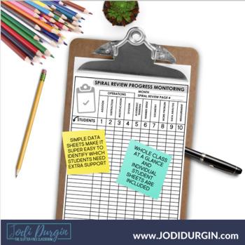 Fourth Grade Math Homework or 4th Grade Morning Work for JUNE