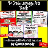 4th Grade Language Arts and Reading Bundle, Review and Skill Practice Resources
