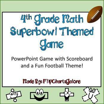4th GRADE MATH CCSS SUPERBOWL INTERACTIVE GAME ~ Power Point ~ FUN