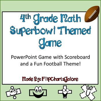 4th GRADE MATH CCSS SUPERBOWL INTERACTIVE GAME ~ Power Poi