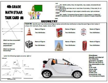 4th Grade STAAR Math Review Activities, All TEKS!