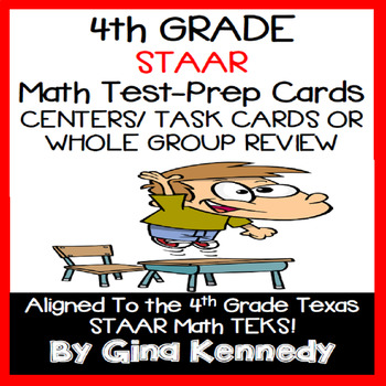 4th Grade STAAR Math Review Activities, All TEKS!