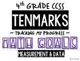 4th GRADE MATH TENMARKS DATA SHEETS MEASUREMENT & DATA COMMON CORE