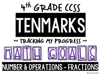 4th GRADE MATH TENMARKS DATA SHEETS NUMBER & OPERATIONS - FRACTIONS COMMON CORE