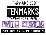 4th GRADE MATH TENMARKS DATA SHEETS OPERATIONS & ALGEBRAIC